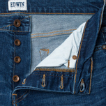 Мужские джинсы Edwin ED-80 Slim Tapered CS Night Blue 11 Oz Blue Mid Trip Used фото- 1