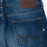 Мужские джинсы Edwin ED-80 Slim Tapered CS Night Blue 11 Oz Blue Mid Trip Used фото- 3