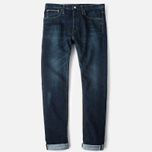 Мужские джинсы Edwin ED-80 Slim Tapered Japan Stretch Selvage Blue Dark Used фото- 0