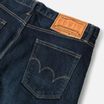 Мужские джинсы Edwin ED-80 Slim Tapered Japan Stretch Selvage Blue Dark Used фото- 1