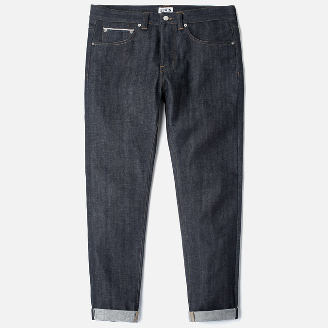 Мужские джинсы Edwin ED-80 Slim Tapered Red Listed Selvage Blue Unwashed