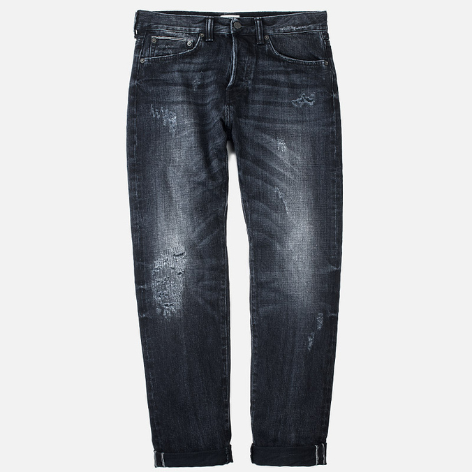 ED-80 Slim Tapered White Listed Selvage HR-9 Men's Jeans Black