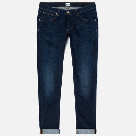 Мужские джинсы Edwin ED-85 CS Night Blue Denim 11 Oz Dark Trip Used