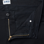Edwin ED-85 Slim Tapered Low Crot CS Ink 11.5 Oz Men's Jeans Black Rinsed photo- 2