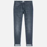 Мужские джинсы Edwin ED-85 Slim Tapered Low Crotch CS Stretch 11.5 Oz Grey Dark Trip Used фото- 0