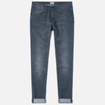 Мужские джинсы Edwin ED-85 Slim Tapered Low Crotch CS Stretch 11.5 Oz Grey Dark Trip Used фото- 0