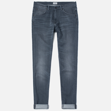 Мужские джинсы Edwin ED-85 Slim Tapered Low Crotch CS Stretch 11.5 Oz Grey Dark Trip Used