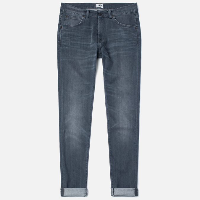 Edwin ED-85 Slim Tapered Low Crotch CS Stretch 11.5 Oz Men's Jeans Grey Dark Trip Used