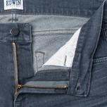 Мужские джинсы Edwin ED-85 Slim Tapered Low Crotch CS Stretch 11.5 Oz Grey Dark Trip Used фото- 2