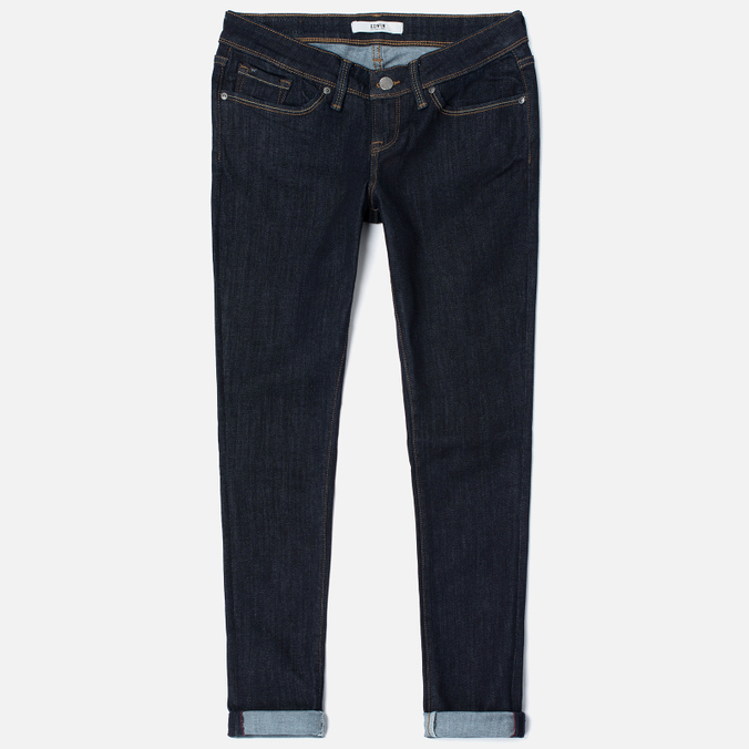 Женские джинсы Edwin EW-90 Super Skinny Blue Powerstretch 11 Oz Rinsed