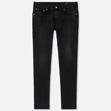 Мужские джинсы Edwin Modern Regular Tapered Black Japanese Stretch Denim 11.5 Oz Black Dark Used