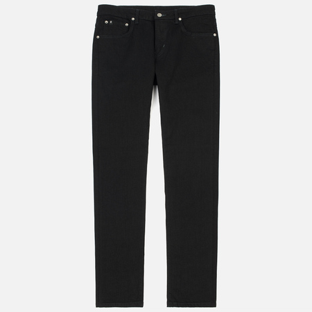 Мужские джинсы Edwin Modern Regular Tapered Black Japanese Stretch Denim Black Rinsed