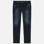 Мужские джинсы Edwin Modern Regular Tapered Blue Japanese Stretch Denim 11.5 Oz Blue Dark Used фото- 0