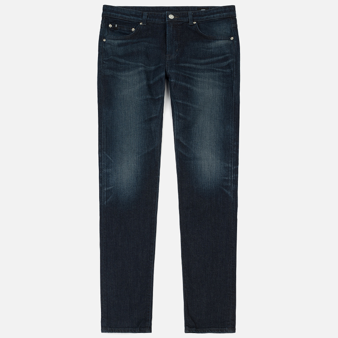 Мужские джинсы Edwin Modern Regular Tapered Blue Japanese Stretch Denim 11.5 Oz Blue Dark Used