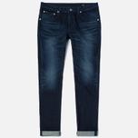 Мужские джинсы Edwin Modern Regular Tapered Blue Japanese Stretch Denim 11.5 Oz Blue Dark Used фото- 0