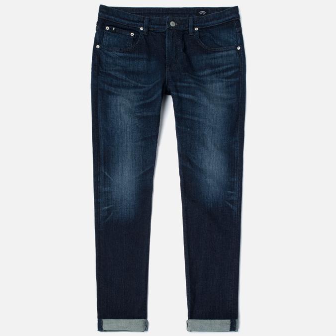 Мужские джинсы Edwin Modern Regular Tapered Blue Japanese Stretch Denim 11.5 Oz Blue Dark Used