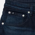 Мужские джинсы Edwin Modern Regular Tapered Blue Japanese Stretch Denim 11.5 Oz Blue Dark Used фото- 1