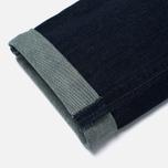 Мужские джинсы Edwin Modern Regular Tapered Blue Japanese Stretch Denim 11.5 Oz Blue Dark Used фото- 4