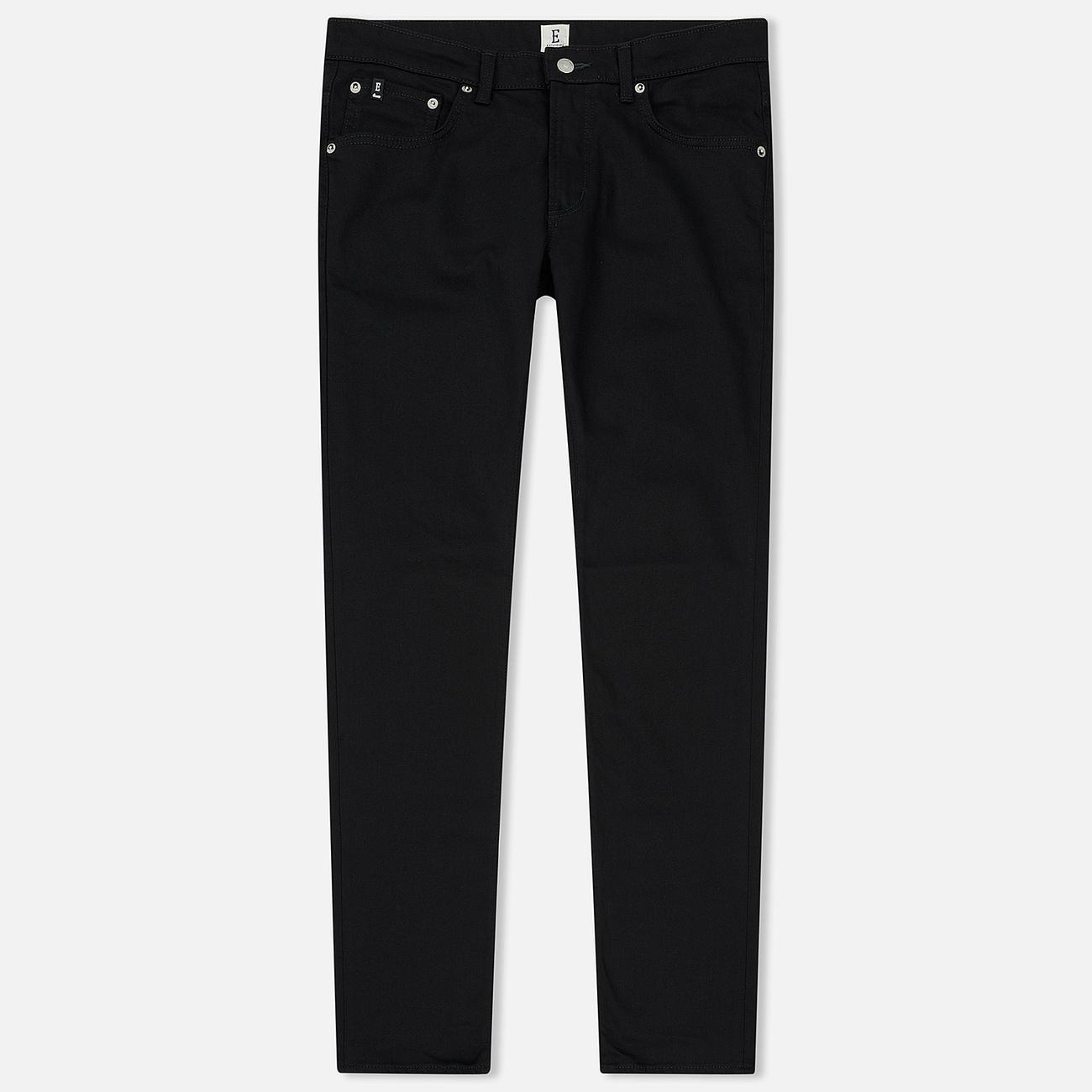 Мужские джинсы Edwin Modern Regular Tapered Kaihara Black Stretch Fabric 13 Oz Rinsed