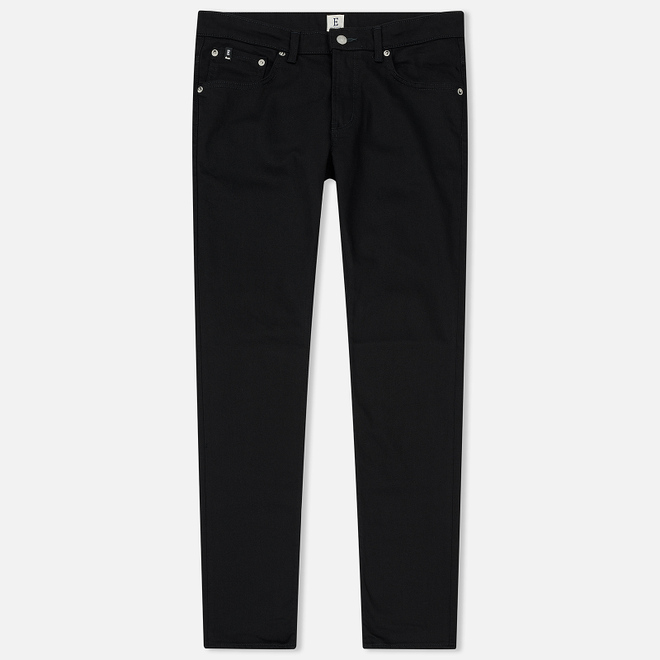 Мужские джинсы Edwin Modern Regular Tapered Kaihara Black Stretch Fabric 13 Oz Rinsed