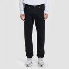 Мужские джинсы Edwin Modern Regular Tapered Kaihara Black Stretch Fabric 13 Oz Rinsed фото- 1
