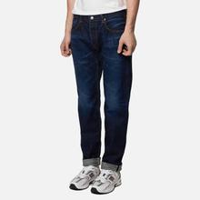 Мужские джинсы Edwin Regular Tapered Nihon Menpu Rainbow Selvage 13.5 Oz Blue Dark Used фото- 0