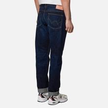 Мужские джинсы Edwin Regular Tapered Nihon Menpu Rainbow Selvage 13.5 Oz Blue Dark Used фото- 1