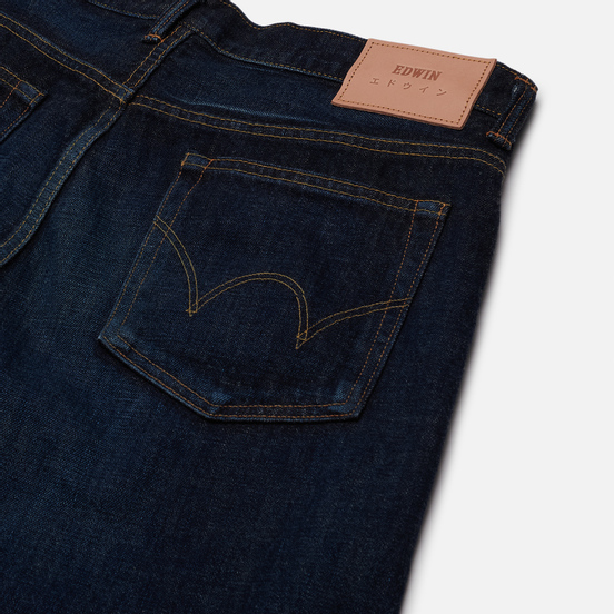 Мужские джинсы Edwin Regular Tapered Nihon Menpu Rainbow Selvage 13.5 Oz Blue Dark Used