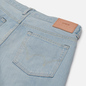 Мужские джинсы Edwin Regular Tapered Nihon Menpu Rainbow Selvage 13.5 Oz Blue Light Used фото - 2
