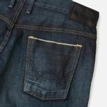 Edwin SEN Japan Stretch Skinny Selvage Men's Jeans Black Dark Used photo- 3