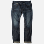 Edwin SEN Japan Stretch Skinny Selvage Men's Jeans Black Dark Used photo- 0