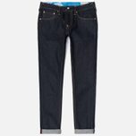 Мужские джинсы Evisu 2010 Slim Fit Bursh Embroidery Seagull Selvedge Denim Ecru фото- 0
