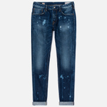 Мужские джинсы Evisu 2010 Slim Fit Fade Out Seagull Selvedge Denim Ecru фото- 0