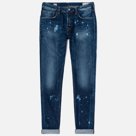 Мужские джинсы Evisu 2010 Slim Fit Fade Out Seagull Selvedge Denim Ecru