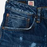 Evisu 2010 Slim Fit Fade Out Seagull Selvedge Denim Men's Jeans Ecru photo- 1