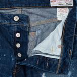 Evisu 2010 Slim Fit Fade Out Seagull Selvedge Denim Men's Jeans Ecru photo- 2