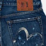 Evisu 2010 Slim Fit Fade Out Seagull Selvedge Denim Men's Jeans Ecru photo- 3