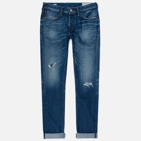 Мужские джинсы Evisu 2010 Slim Fit Seagull Selvedge Denim Ecru