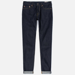 Мужские джинсы Evisu 2017 Carrot Fit Seagull Selvedge Denim Ecru фото- 0