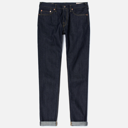 Мужские джинсы Evisu 2017 Carrot Fit Seagull Selvedge Denim Ecru