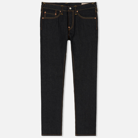 Мужские джинсы Evisu Carrot Fit Evisu Deity Of Denim Back Printed Raw Selvedge Indigo