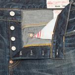 Мужские джинсы Evisu Distress Seagull Firecrack Indigo фото- 3