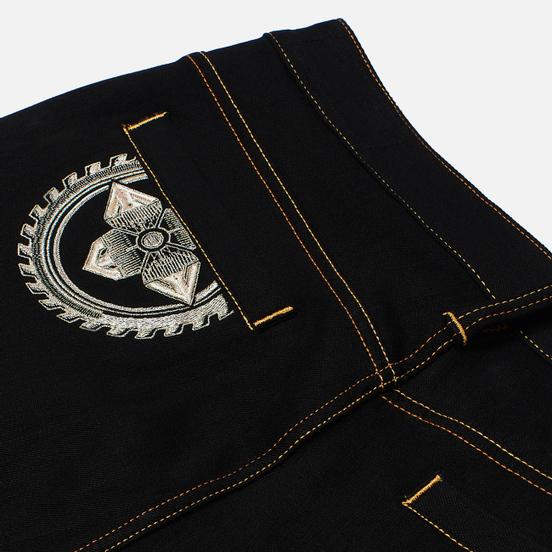 Мужские джинсы Evisu Evisukuro Embroidered Seagull & Kamon 3D 12.5 Oz Black
