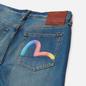 Мужские джинсы Evisu Heritage 2017 Rainbow Seagull Printed Indigo фото - 2