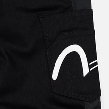 Мужские джинсы Evisu Side Panelled Cargo Jogger Fit Seagull Pockets Black фото- 5