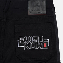 Мужские джинсы Evisu Side Panelled Cargo Jogger Fit Seagull Pockets Black фото- 4