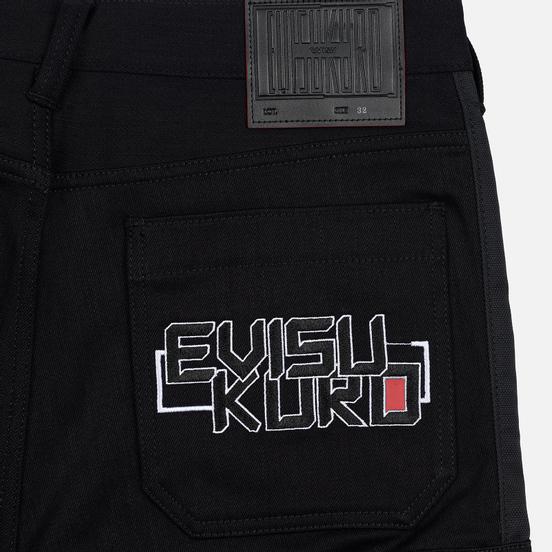 Мужские джинсы Evisu Side Panelled Cargo Jogger Fit Seagull Pockets Black
