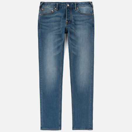 Мужские джинсы Evisu Slim Fit Seagull Appliqued Selvedge Indigo