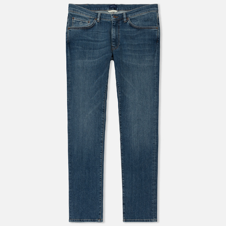 Мужские джинсы Gant Slim Straight Mid Blue Worn In