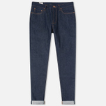 Мужские джинсы Han Kjobenhavn Tapered 17 Oz Dark Blue Raw Unwashed фото- 0